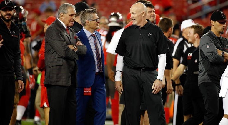 Falcons Owner Arthur Blank, GM Thomas Dimitroff, and Head Coach Dan Quinn