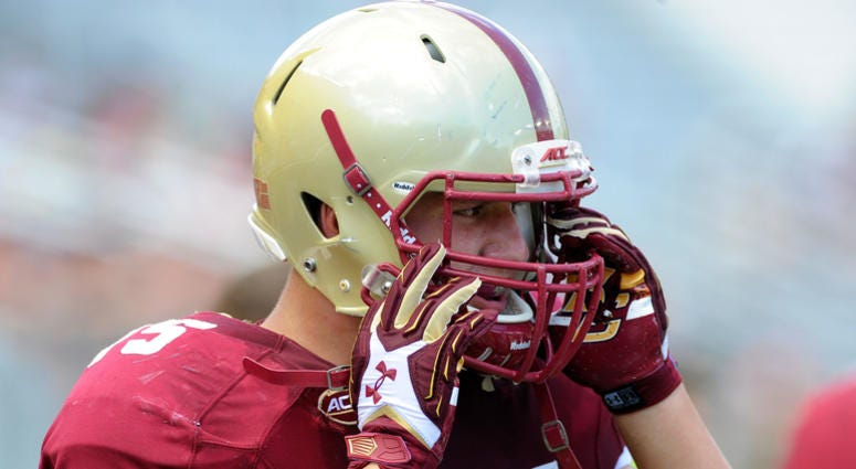 Boston College Eagles offensive lineman Chris Lindstrom