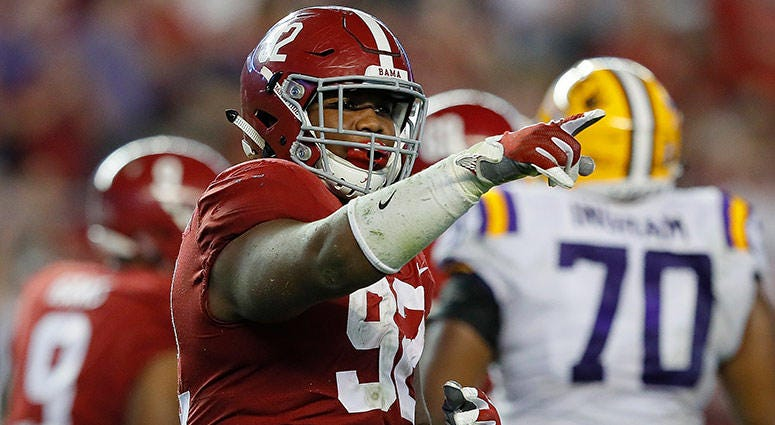 Alabama Crimson Tide defensive tackle Quinnen Williams
