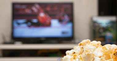 Wrestling on TV with Popcorn
