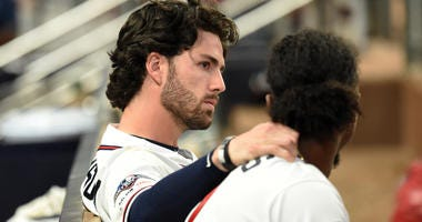 Atlanta Braves Infielders Dansby Swanson and Ozzie Albies