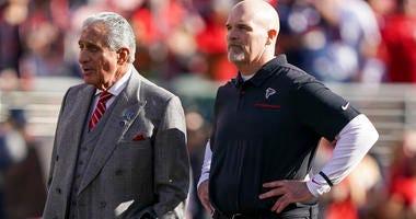 Falcons Owner Arthur Blank and Head Coach Dan Quinn