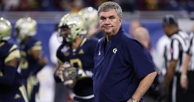 Georgia Tech Yellow Jackets Head Football Coach Paul Johnson