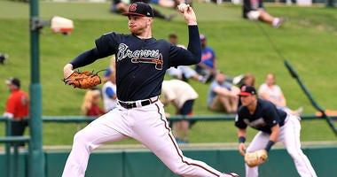 Atlanta Braves pitcher Sean Newcomb