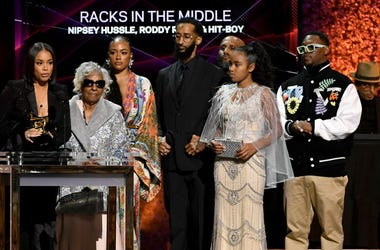 Family Of Nipsey Hussle Accepts His GRAMMY