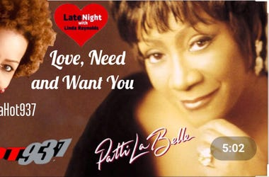 Patti LaBelle 1st #LateNightLove @LindaHot937