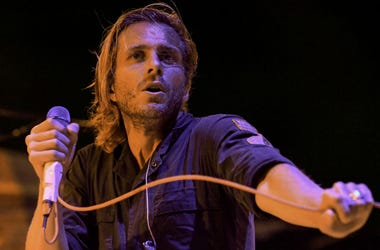 Awolnation lead singer Aaron Bruno performs at the Riptide Music Festival