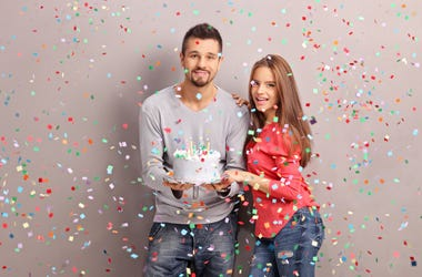 Couple with Cake