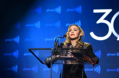 adonna speaks onstage during the 30th Annual GLAAD Media Awards New York at New York Hilton Midtown on May 04, 2019 in New York City