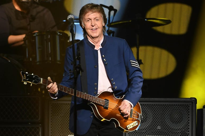 Paul McCartney performs at the American Airlines Arena