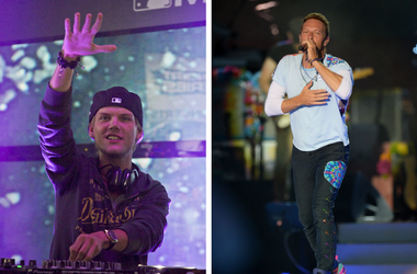 Avicii and Chris Martin