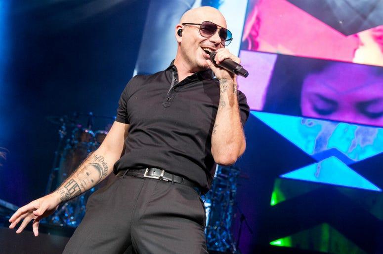 Rapper Pitbull (Armando Perez) at Henry Maier Festival Park during Summerfest on June 30, 2016, in Milwaukee, Wisconsin.