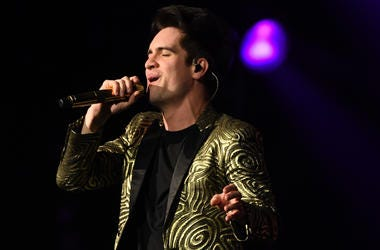 Brendon Urie of Panic! at the Disco performs during the 'PRAY FOR THE WICKED' tour at Golden 1 Center on February 20, 2019