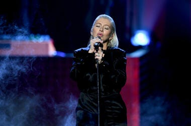 Christina Aguilera performs onstage during the 2017 American Music Awards