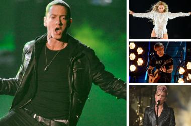 Eminem, Beyonce, Ed Sheeran, Pink