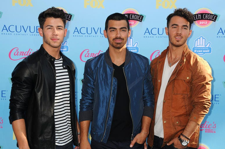 Nick Jonas, Joe Jonas, Kevin Jonas, The Jonas Brothers. 2013 Teen Choice Awards